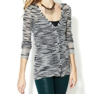 Free People Beach Grey Zebra Cardigan Size XS